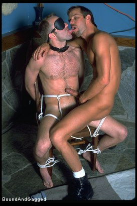 Photo number 6 from The Salesman: Bound and Paddled shot for Bound And Gagged on Kink.com. Featuring Michael Brandon and Luke Sabre in hardcore BDSM & Fetish porn.