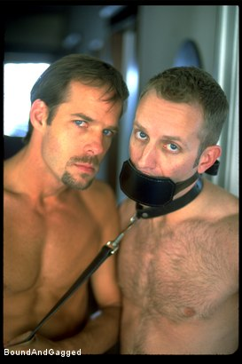 Photo number 10 from The Salesman: Bound and Paddled shot for Bound And Gagged on Kink.com. Featuring Michael Brandon and Luke Sabre in hardcore BDSM & Fetish porn.