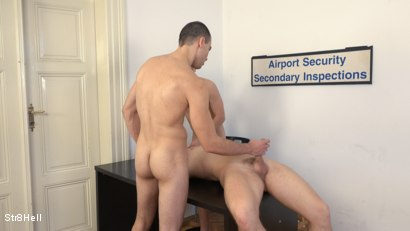 Photo number 15 from Borek, Ivan, and Petr Raw - Airport shot for Str8Hell on Kink.com. Featuring Borek Sokol, Ivan Mraz and Petr Zuska in hardcore BDSM & Fetish porn.