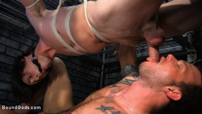 Photo number 13 from Muscle stud Cliff Jensen lays claim to prison bitch Tony Orlando  shot for Bound Gods on Kink.com. Featuring Tony Orlando and Cliff Jensen in hardcore BDSM & Fetish porn.