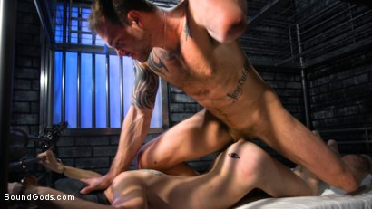 Photo number 12 from Muscle stud Cliff Jensen lays claim to prison bitch Tony Orlando  shot for Bound Gods on Kink.com. Featuring Tony Orlando and Cliff Jensen in hardcore BDSM & Fetish porn.