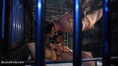 Photo number 17 from Muscle stud Cliff Jensen lays claim to prison bitch Tony Orlando  shot for Bound Gods on Kink.com. Featuring Tony Orlando and Cliff Jensen in hardcore BDSM & Fetish porn.