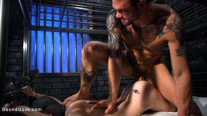 Photo number 3 from Muscle stud Cliff Jensen lays claim to prison bitch Tony Orlando  shot for Bound Gods on Kink.com. Featuring Tony Orlando and Cliff Jensen in hardcore BDSM & Fetish porn.
