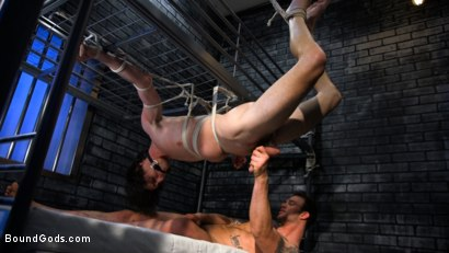 Photo number 4 from Muscle stud Cliff Jensen lays claim to prison bitch Tony Orlando  shot for Bound Gods on Kink.com. Featuring Tony Orlando and Cliff Jensen in hardcore BDSM & Fetish porn.
