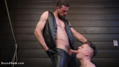 Photo number 15 from Tyler Rush Cowers Before Max Ferro shot for Bound Gods on Kink.com. Featuring Tyler Rush and Max Ferro in hardcore BDSM & Fetish porn.