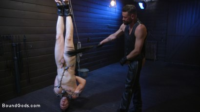 Photo number 24 from Tyler Rush Cowers Before Max Ferro shot for Bound Gods on Kink.com. Featuring Tyler Rush and Max Ferro in hardcore BDSM & Fetish porn.
