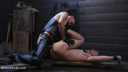Photo number 37 from Tyler Rush Cowers Before Max Ferro shot for Bound Gods on Kink.com. Featuring Tyler Rush and Max Ferro in hardcore BDSM & Fetish porn.