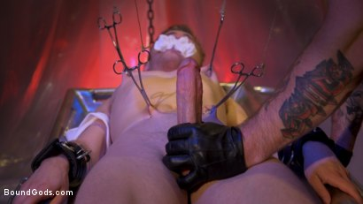Photo number 10 from New Boy Tom Bentley Fucked by Leather Doctor Trenton Ducati  shot for Bound Gods on Kink.com. Featuring Trenton Ducati and Tom Bentley in hardcore BDSM & Fetish porn.