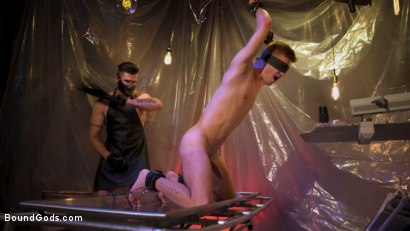 Photo number 4 from New Boy Tom Bentley Fucked by Leather Doctor Trenton Ducati  shot for Bound Gods on Kink.com. Featuring Trenton Ducati and Tom Bentley in hardcore BDSM & Fetish porn.
