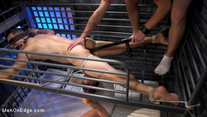 Photo number 7 from New CO falls asleep on the job and gets milked by two horny inmates shot for Men On Edge on Kink.com. Featuring Jeremy Spreadums in hardcore BDSM & Fetish porn.