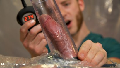 Photo number 1 from Doctor's Anal Orders: Blaze Austin edged, pumped, and stretched  shot for Men On Edge on Kink.com. Featuring Blaze Austin in hardcore BDSM & Fetish porn.
