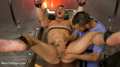Photo number 7 from Doctor's Anal Orders: Blaze Austin edged, pumped, and stretched  shot for Men On Edge on Kink.com. Featuring Blaze Austin in hardcore BDSM & Fetish porn.