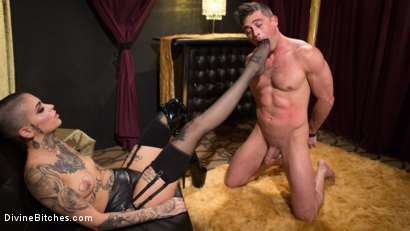 Photo number 3 from Used and Abused: Leigh Raven Punishes Lance Hart  shot for Divine Bitches on Kink.com. Featuring Leigh Raven and Lance Hart in hardcore BDSM & Fetish porn.