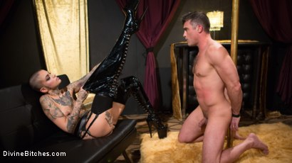Photo number 1 from Used and Abused, Leigh Raven Punishes Lance Hart  shot for Divine Bitches on Kink.com. Featuring Leigh Raven and Lance Hart in hardcore BDSM & Fetish porn.