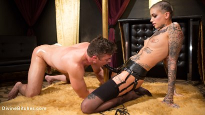 Photo number 12 from Used and Abused, Leigh Raven Punishes Lance Hart  shot for Divine Bitches on Kink.com. Featuring Leigh Raven and Lance Hart in hardcore BDSM & Fetish porn.