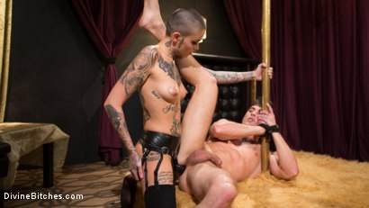 Photo number 16 from Used and Abused, Leigh Raven Punishes Lance Hart  shot for Divine Bitches on Kink.com. Featuring Leigh Raven and Lance Hart in hardcore BDSM & Fetish porn.