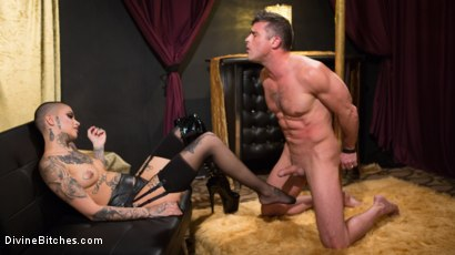 Photo number 4 from Used and Abused, Leigh Raven Punishes Lance Hart  shot for Divine Bitches on Kink.com. Featuring Leigh Raven and Lance Hart in hardcore BDSM & Fetish porn.