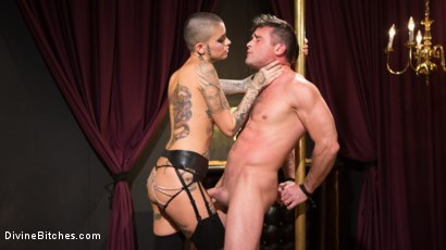 Photo number 5 from Used and Abused, Leigh Raven Punishes Lance Hart  shot for Divine Bitches on Kink.com. Featuring Leigh Raven and Lance Hart in hardcore BDSM & Fetish porn.