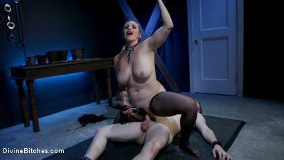 Photo number 11 from New Male Dom Made to Submit and Take Pain from Goddess Bella Rossi shot for Divine Bitches on Kink.com. Featuring Bella Rossi and Dozer Torn in hardcore BDSM & Fetish porn.