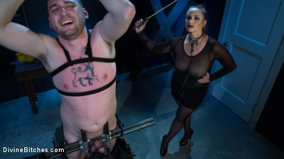 Photo number 13 from New Male Dom Made to Submit and Take Pain from Goddess Bella Rossi shot for Divine Bitches on Kink.com. Featuring Bella Rossi and Dozer in hardcore BDSM & Fetish porn.