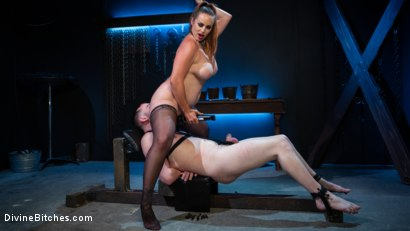 Photo number 6 from New Male Dom Made to Submit and Take Pain from Goddess Bella Rossi shot for Divine Bitches on Kink.com. Featuring Bella Rossi and Dozer Torn in hardcore BDSM & Fetish porn.