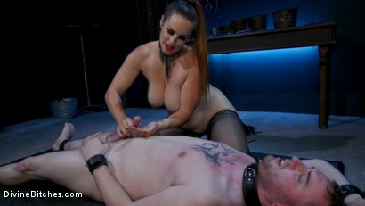 Photo number 8 from New Male Dom Made to Submit and Take Pain from Goddess Bella Rossi shot for Divine Bitches on Kink.com. Featuring Bella Rossi and Dozer in hardcore BDSM & Fetish porn.