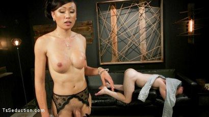 Photo number 19 from Obedient Boy: Venus Lux Torments & Fucks Her Delivery Boy shot for TS Seduction on Kink.com. Featuring Venus Lux and Damien Moreau in hardcore BDSM & Fetish porn.