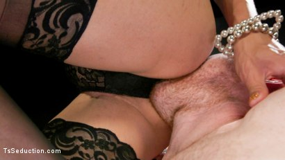 Photo number 3 from Obedient Boy: Venus Lux Torments & Fucks Her Delivery Boy shot for TS Seduction on Kink.com. Featuring Venus Lux and Damien Moreau in hardcore BDSM & Fetish porn.