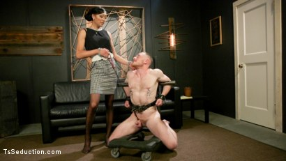 Photo number 1 from Obedient Boy: Venus Lux Torments & Fucks Her Delivery Boy shot for TS Seduction on Kink.com. Featuring Venus Lux and Damien Moreau in hardcore BDSM & Fetish porn.