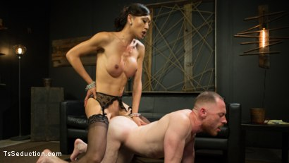 Photo number 15 from Obedient Boy: Venus Lux Torments & Fucks Her Delivery Boy shot for TS Seduction on Kink.com. Featuring Venus Lux and Damien Moreau in hardcore BDSM & Fetish porn.