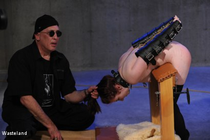 Photo number 7 from Another Course from the Master shot for Wasteland on Kink.com. Featuring David Lawrence, Tyler and Giselle Humes in hardcore BDSM & Fetish porn.