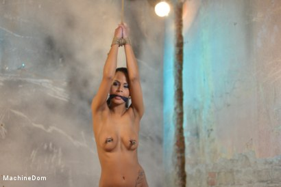 Isabella Chrystin Gagged and Nipple-Clamped