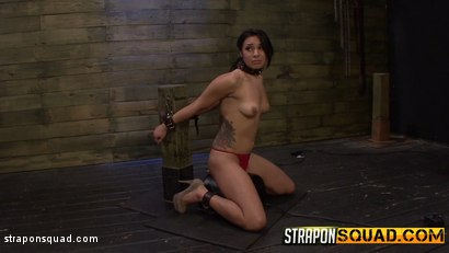 Photo number 1 from Slutty Slave Isa Mendez Dominated by Lexy Villa & Brooklyn Daniels shot for Strapon Squad on Kink.com. Featuring Isa Mendez, Lexy Villa and Brooklyn Daniels in hardcore BDSM & Fetish porn.