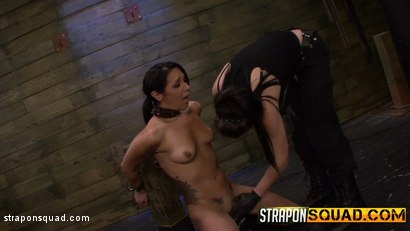 Photo number 3 from Slutty Slave Isa Mendez Dominated by Lexy Villa & Brooklyn Daniels shot for Strapon Squad on Kink.com. Featuring Isa Mendez, Lexy Villa and Brooklyn Daniels in hardcore BDSM & Fetish porn.
