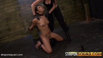 Photo number 4 from Slutty Slave Isa Mendez Dominated by Lexy Villa & Brooklyn Daniels shot for Strapon Squad on Kink.com. Featuring Isa Mendez, Lexy Villa and Brooklyn Daniels in hardcore BDSM & Fetish porn.