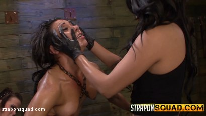 Photo number 10 from Slutty Slave Isa Mendez Dominated by Lexy Villa & Brooklyn Daniels shot for Strapon Squad on Kink.com. Featuring Isa Mendez, Lexy Villa and Brooklyn Daniels in hardcore BDSM & Fetish porn.