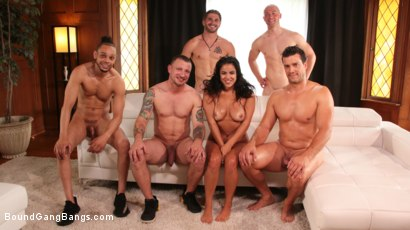Photo number 27 from Monica Sage Gets Fucked Senseless shot for Bound Gang Bangs on Kink.com. Featuring Donny Sins, Nathan Bronson, Mr. Pete, Ramon Nomar, Zachary Wild and Monica Sage in hardcore BDSM & Fetish porn.