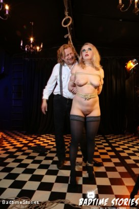 Photo number 1 from Obedient German Slave Tied and Tormented in Intense BDSM: Part 1 shot for Badtime Stories on Kink.com. Featuring Smorlow, Kerenka, Mac Troy, Hagen Bondage and Mary O in hardcore BDSM & Fetish porn.