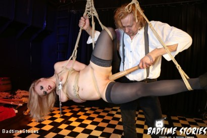 Photo number 6 from Obedient German Slave Tied and Tormented in Intense BDSM: Part 1 shot for Badtime Stories on Kink.com. Featuring Smorlow, Kerenka, Mac Troy, Hagen Bondage and Mary O in hardcore BDSM & Fetish porn.