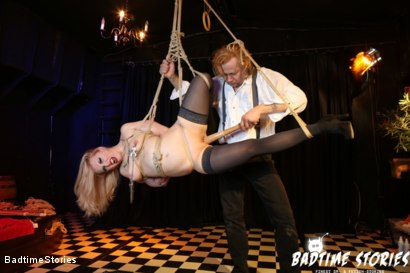 Photo number 7 from Obedient German Slave Tied and Tormented in Intense BDSM: Part 1 shot for Badtime Stories on Kink.com. Featuring Smorlow, Kerenka, Mac Troy, Hagen Bondage and Mary O in hardcore BDSM & Fetish porn.