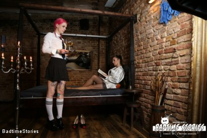 Photo number 4 from German Babe Bound and Tormented by Master and Dominatrix shot for Badtime Stories on Kink.com. Featuring Smorlow, Lady Velvetsteel and Lyla Las Vegas in hardcore BDSM & Fetish porn.