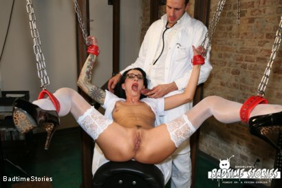 Photo number 19 from Fluids, BDSM, and Speculum Play with German Slave Babe shot for Badtime Stories on Kink.com. Featuring Pornfighter Long John, Stella Star and Smorlow in hardcore BDSM & Fetish porn.