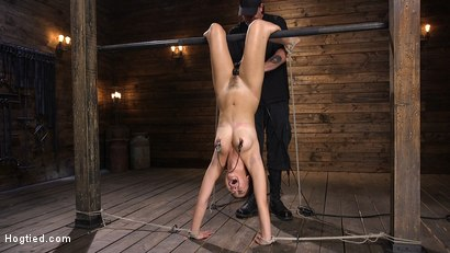 Photo number 15 from Sweet and Innocent Kendra Spade Gets Bound, Tormented, and Made to Cum shot for Hogtied on Kink.com. Featuring Kendra Spade in hardcore BDSM & Fetish porn.