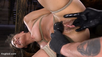 Photo number 9 from Sweet and Innocent Kendra Spade Gets Bound, Tormented, and Made to Cum shot for Hogtied on Kink.com. Featuring Kendra Spade in hardcore BDSM & Fetish porn.
