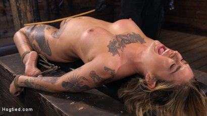 Photo number 11 from Tattooed Slut Is Tormented In Bondage And Made To Cum shot for Hogtied on Kink.com. Featuring Kleio Valentien in hardcore BDSM & Fetish porn.