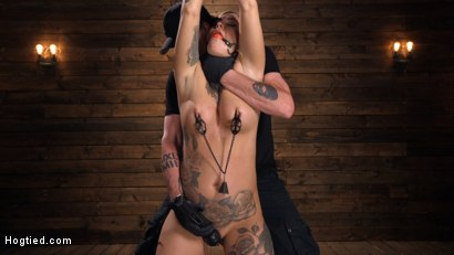 Photo number 4 from Tattooed Slut Is Tormented In Bondage And Made To Cum shot for Hogtied on Kink.com. Featuring Kleio Valentien in hardcore BDSM & Fetish porn.