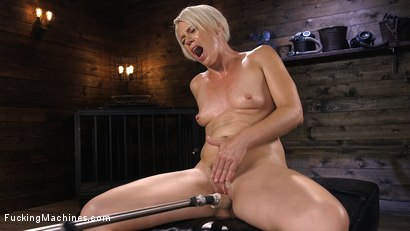 Photo number 10 from Sexy Blonde Cougar Gets Machine Fucked shot for Fucking Machines on Kink.com. Featuring Helena Locke in hardcore BDSM & Fetish porn.
