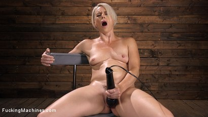 Photo number 2 from Sexy Blonde Cougar Gets Machine Fucked shot for Fucking Machines on Kink.com. Featuring Helena Locke in hardcore BDSM & Fetish porn.