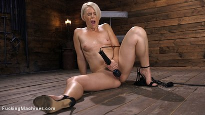 Photo number 3 from Sexy Blonde Cougar Gets Machine Fucked shot for Fucking Machines on Kink.com. Featuring Helena Locke in hardcore BDSM & Fetish porn.