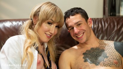 Photo number 13 from The Tutor: Lena Kelly Teaches Corbin Dallas To Handle A Lady's Cock shot for TS Seduction on Kink.com. Featuring Lena Kelly and Corbin Dallas in hardcore BDSM & Fetish porn.